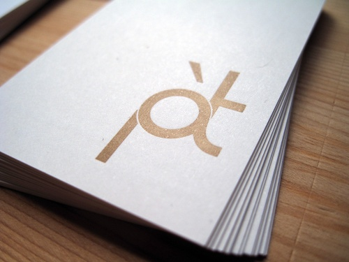 Pied a Terre - Business Cards Detailb