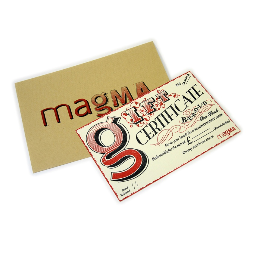 SORT Magma Gift Voucher lo